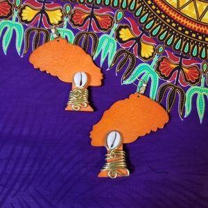 Lady Africa Earrings Custom made.